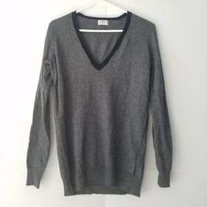 MADEWELL Wallace gray v-neck sweater